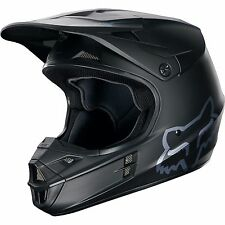 Fox Racing Adult V1 Motocross Dirt Bike Helmet MATTE BLACK  2016 SIZE XL