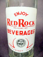 vintage ACL Soda Pop Bottle:  RED ROCK of WASHINGTON, N.C.  - 7 oz ACL