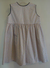 NWT Bella Bliss Bluebell W/ Navy Trim Button Back Dress ~ Size 12 Month