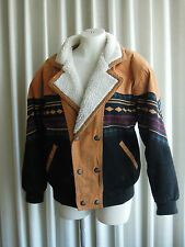 Womens Leather Jacket Southwest Vintage 1990s Tuskany Leather, Ships from USA