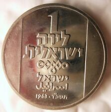 1963 ISRAEL LIRA - Italian Hannukah - Uncirculated - Only 18,000 Minted- Lot J20