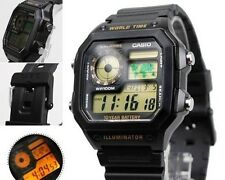 AE-1200WH-1B Japan Movt New Genuine Casio Watch 10-Year Battery World Time Men's