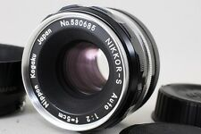 RARE! Nikon Nikkor-S Auto 9 Blades Lens 50mm f/2 w/Hood From JAPAN *EXC+++* #036