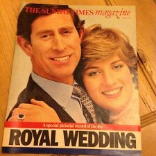 VINTAGE SUNDAY TIMES MAGAZINE 2 AUGUST 1981 CHARLES & DIANA ROYAL WEDDING ISSUE