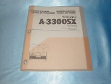 Teac A-3300Sx Reel To Reel Owners Manual Free Same Day Shipping