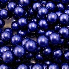 50 pieces 10mm Glass Pearl Beads - Cobalt Blue - A1224