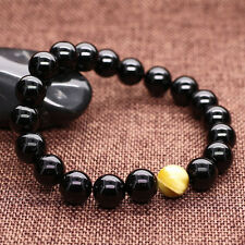 Mens 8mm Tourmaline Classy Mens Energy Beaded Yoga Bracelet Prayer Mala Bead Y23