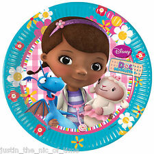 Doc McStuffins Niñas Cumpleaños Fiesta Suministros Vajilla pequeñas placas de 20cm x8