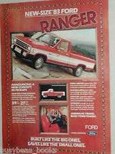1983 Ford advertisement, Ford Ranger Pickup Truck, new smaller-size Pick-up