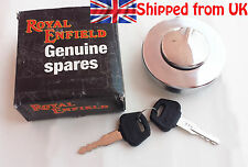 BRAND NEW ROYAL ENFIELD PETROL/ FUEL TANK CAP LOCK WITH KEY SET # 597128