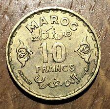 PIECE DE 10 FRANCS MAROC 1371 (80)
