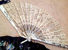 Antique / Vintage Lot Lace / Painted Fans - Spare Or Repair
