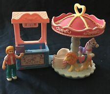 Fisher Price Sweet Streets CAROUSEL Merry Go Round Ticket Booth Girl Lot B