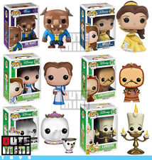 FUNKO POP DISNEY BEAUTY AND THE BEAST COGSWORTH MRS POTTS BELLE SET OF 6 FIGURES