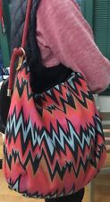 Missoni M Purse Bag Shoulder Bag w Chevron Design & Rope Handle