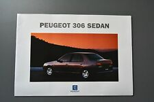 FOLLETO de ventas: Peugeot 306 Gasolina & Diesel Saloon Sedan, 1994