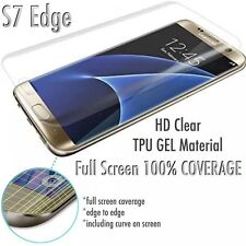 NEW UPDATED* Full Curve Samsung Galaxy S7 Edge TPU Screen Protector Film x3