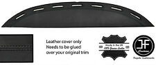 BLACK STITCH TOP VENT DASH DASHBOARD LEATHER COVER FITS FERRARI TESTAROSSA 84-91