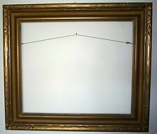 "1930's Newcomb & Macklin Style Gilt Gold 30"" x 26"" Wood Carved Picture Frame"