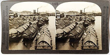 Keystone Stereoview Cascos Boats on Pasig River, PHILIPPINES 1910s Education Set