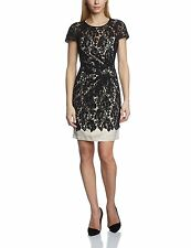 Lipsy Women's Black Nude Lace Party Cocktail Dress - DR07124 - Size M / UK 12