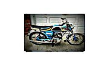 1967 Yamaha Yl1 Bike Motorcycle A4 Retro Metal Sign Aluminium
