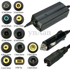 Dual 2 USB Port 90W Car Charger Power Supply Adapter For Laptop iPad Camera