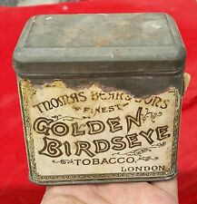 VINTAGE V RARE THOMAS BEAR'S & SONS-GOLDEN BIRDSEYE TOBACCO ADV. TIN BOX,ENGLAND