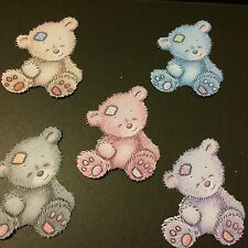 10 x Tattered Lace Content Teddy Bear  Die Cuts shapes for card making topper