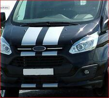 PRE CUT WHITE FORD TRANSIT SPORT CUSTOM BONNET STRIPES DECALS STICKERS GRAPHICS