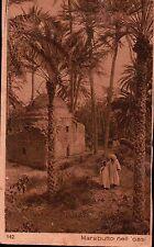 CARTOLINA - MARABUTTO NELL'OASI - COLONIE ITALIANE AFRICA ANNI '30  C4-1760