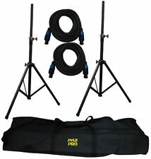 PMDK101 Heavy-Duty Aluminum Anodizing Dual Speaker Stand & 21FT Cable Kit