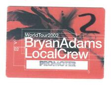 Bryan Adams - World Tour 2002 - Konzert-Satin-Pass Local Crew - Sammlerstück