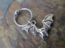 Gothic Silver Bat Cartilage Piercing Captive Ring Tragus Earring 16G Gauge 1/2""