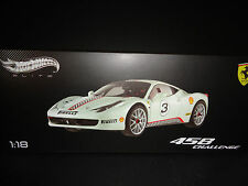 Hot Wheels Elite Ferrari 458 Italia Challenge #3 White 1/18 Limited Edition