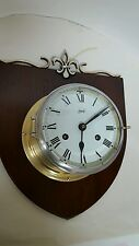 Vintage SCHATZ 8 day SHIPS CLOCK (work/bell trike) with key