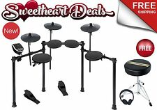 Alesis Burst Kit Electronic Drum Set with Throne Headphones Sticks FREE Shipping
