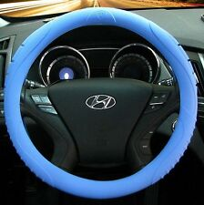 MASADA Premium Silicone Car Steering Wheel Cover (Blue) - One size fits all