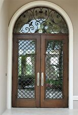 "72"" X 132"" Wrought Iron Entry Doors with transom by Monarch Custom Doors"