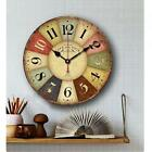 Fashion European Style Wooden Decorative Round Wall Clock Retro Vintage