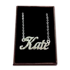 White Gold Plated Name Necklace - KATE - Gift Idea For Her - Name Chain Bridal