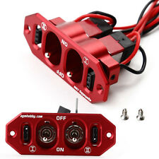 AGM RC Hobby J-001 Heavy Duty Dual Power Switch Anodized Aluminum RED
