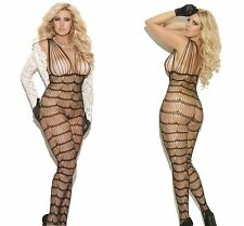 New Ladies Bodysuit Plus Size 14 XL Fishnet Bodystocking Lingerie Catsuit Tights