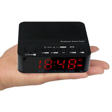 Handheld Bluetooth FM Radio Speaker Mp3 Player LED Alarm Clock AUX Audio Input a