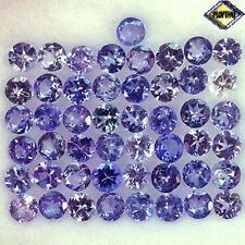 5.20CT GORGEOUS 49PCS 2.9MM ROUND PURPLE VIOLET TANZANITE