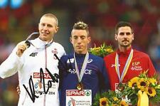 ATHLETICS: KRYSTIAN ZALEWSKI SIGNED 6x4 MEDAL PHOTO+COA *RIO 2016* *POLAND*
