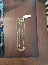 Michael Kors Gold Tone Glam Rock Pyramid Station Necklace Nwt