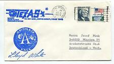 1972 Texas Manned Space Flight Tracking Station Apollo NASA Space Cover SIGNED