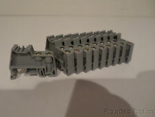 Lot of (10) New Connectwell Din Rail Ends, 44mm X 9mm, Gray Polyamide, CA702