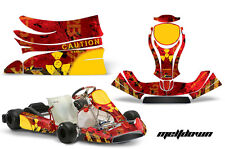 AMR Racing Graphics KG Freeline Birel Cadet Sticker Kits Decals MELTDOWN RED
